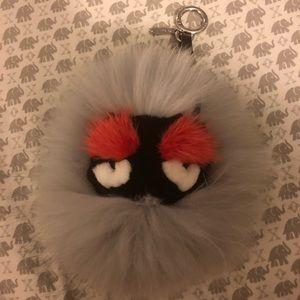 Fur monster keychain